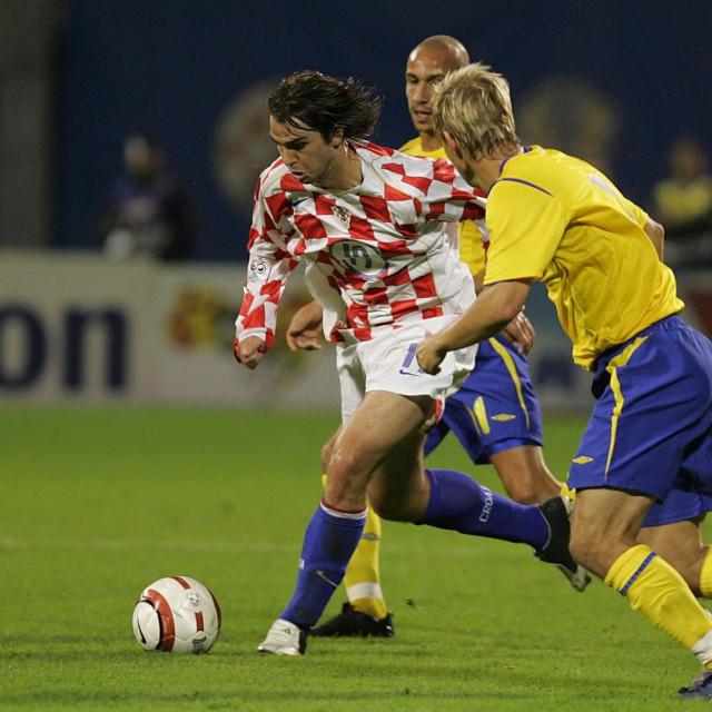 Niko Kranjčar bio je jedan od ključnih igrača protiv Švedske 2005. godine