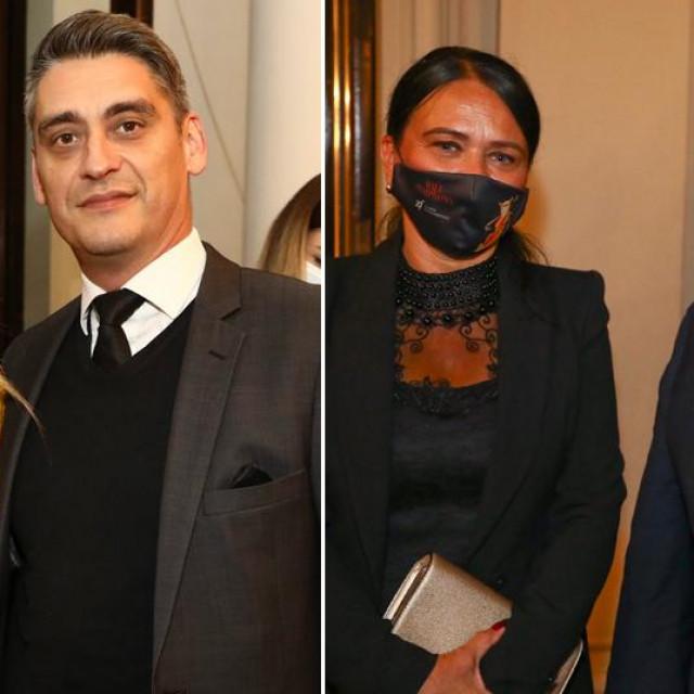 Jelena Veljača i Vito Turšić te Jasminka i Vili Beroš