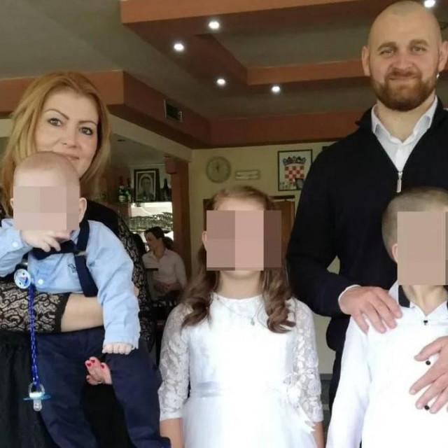 Jakica Lovrić sa svojom obitelji