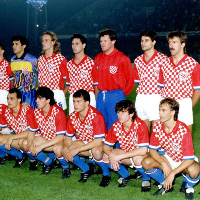 Zagreb, 17. listopada 1990. Stadion u Maksimiru, prijateljska nogometna utakmicca Hrvatska - SAD 2:1