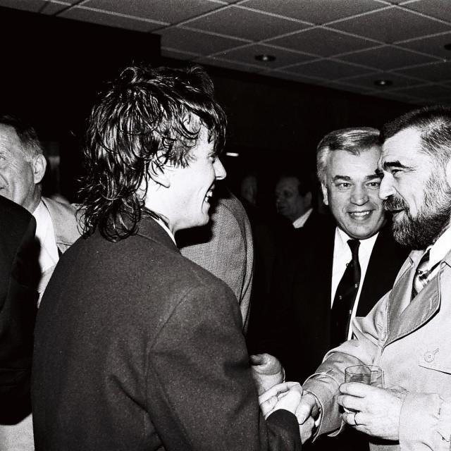 Gregor Židan i Stjepan Mesić