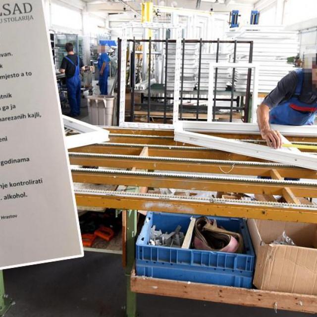 Ilustracija: Pogon tvornice Ilsad u Ozlju i dopis radnicima