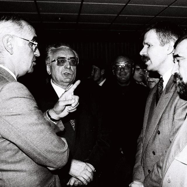 Vlatko Marković, Franjo Tuđman i Mladen Vedriš