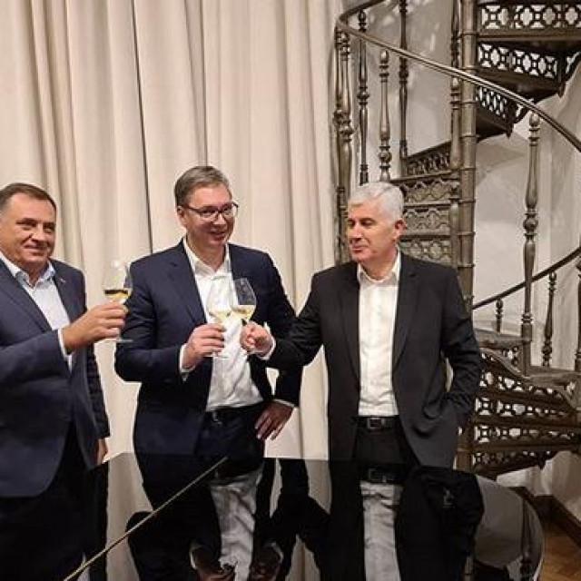 Milorad Dodik, Aleksandar Vučić i Dragan Čović