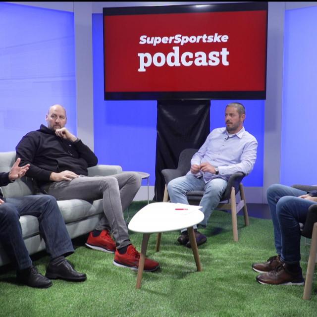 Slijeva nadesno: Ilija Lončarević, Dino Rađa, Siniša Sušec i Tvrtko Puljić u podcastu Supersportske