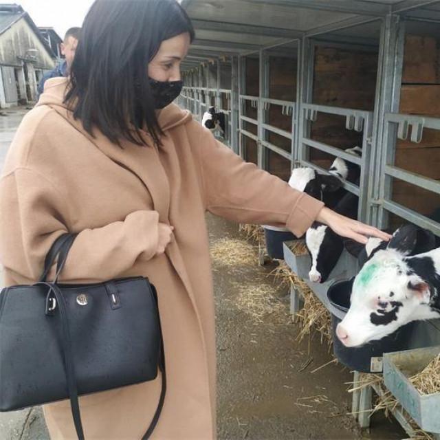 Ministrica poljoprivrede Marija Vučković u utorak je posjetila farmu muznih krava u Čazmi