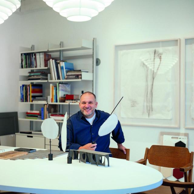 Saša Šekoranja u novom studiju.