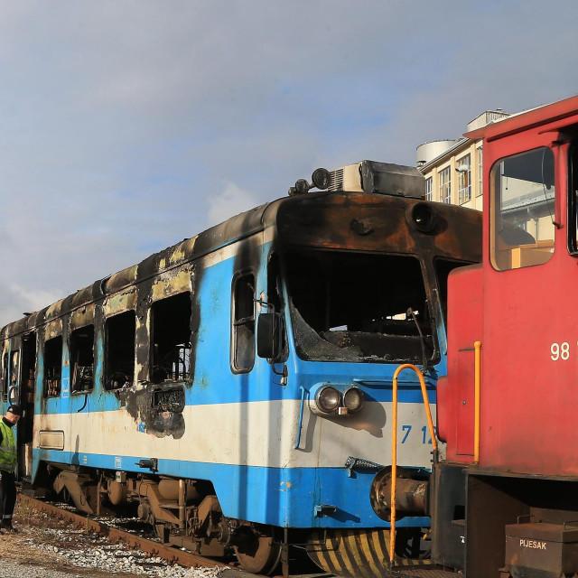 Požar vlaka kod Našica