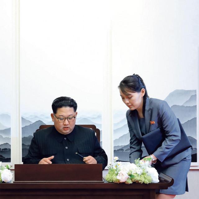 Kim Jong-Un i Kim Yo-Jong