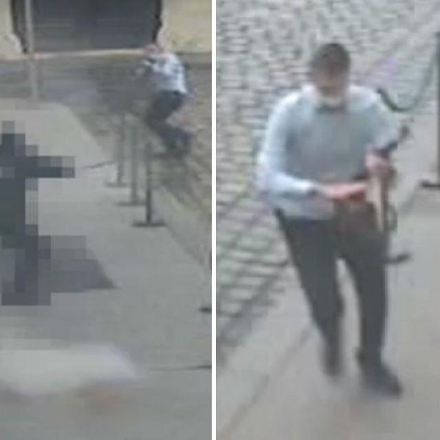 Napad Danijela Bezuka na policajca na Markovom trgu