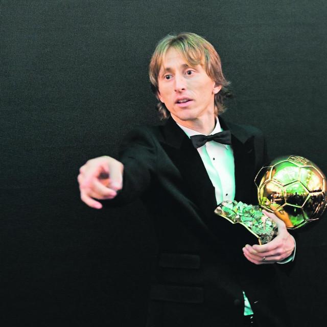 Luka Modrić sa Zlatnom loptom 2018.