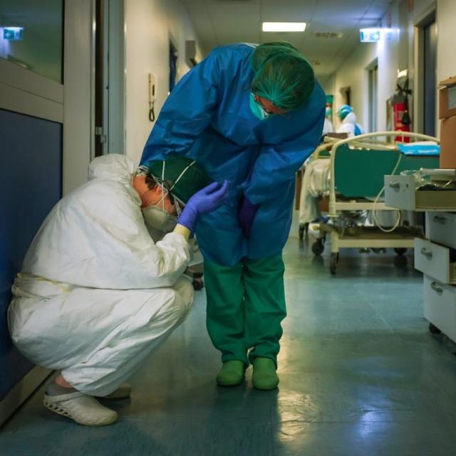 Prizor iz bolnice Cremona u ožujku 2020.