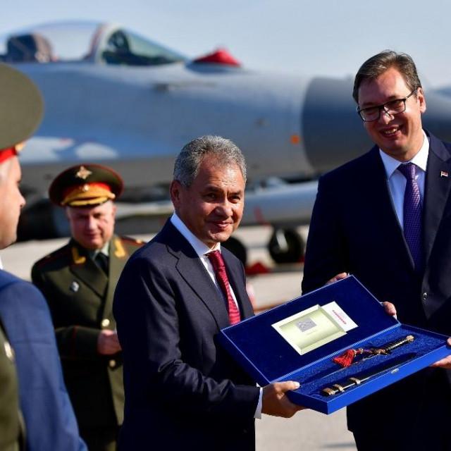Sergej Šojgu i Aleksandar Vučić