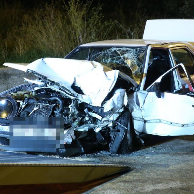 Split, 211020.<br /> Prometna nesreca u Grljevcu u kojoj su sudjelovala dva automobila.<br />