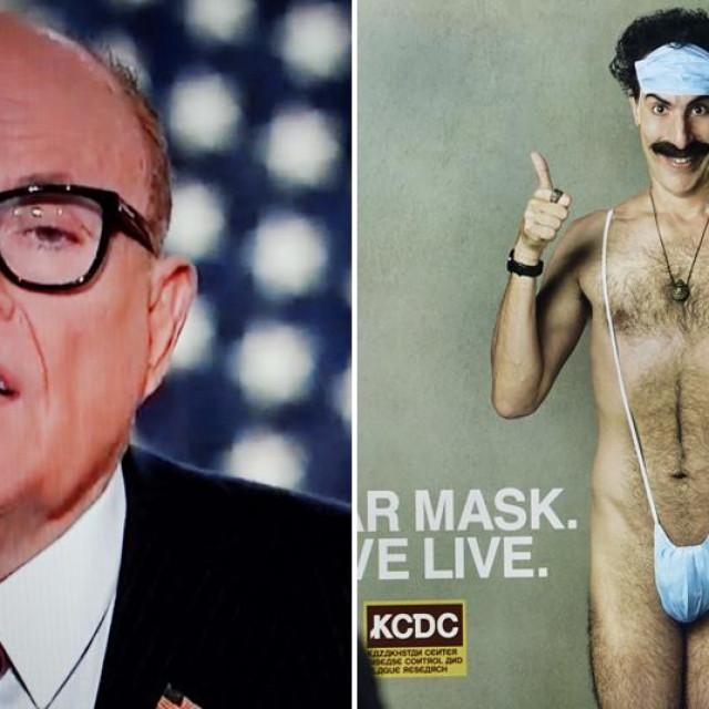 Rudy Giuliani i Sacha Baron Cohen kao Borat
