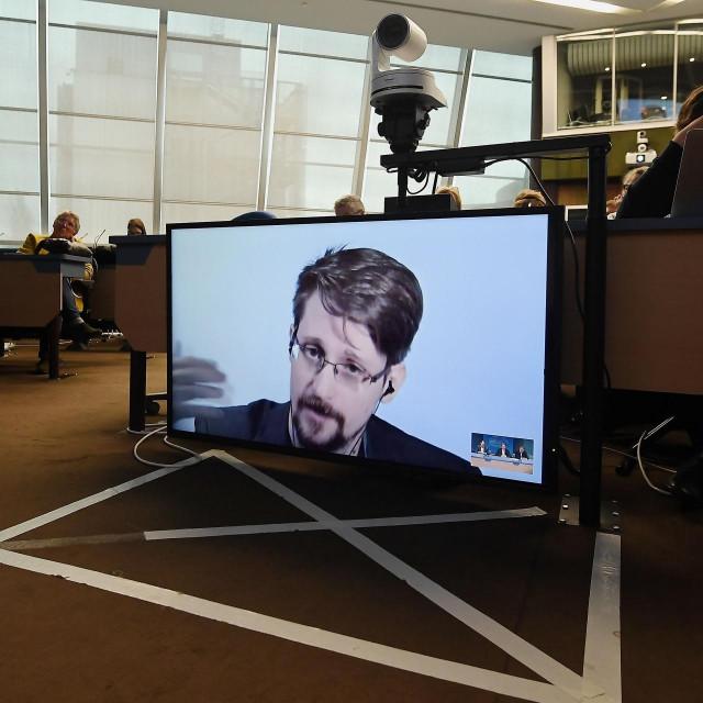 Edward Snowden na videokonferenciji