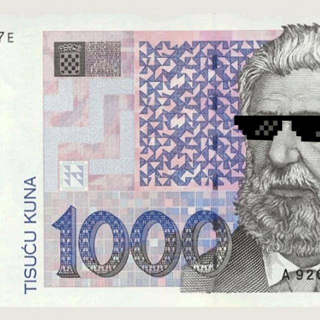 Novčanica od 1000 kuna, ilustracija
