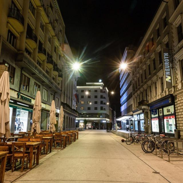 Prizor iz Ljubljane tijekom policijskog sata