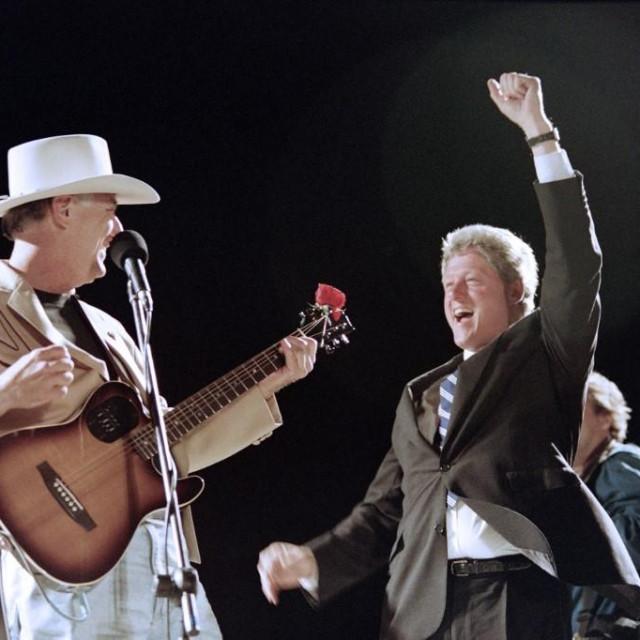 Jerry Jeff Walker i Bill Clinton (1992.)