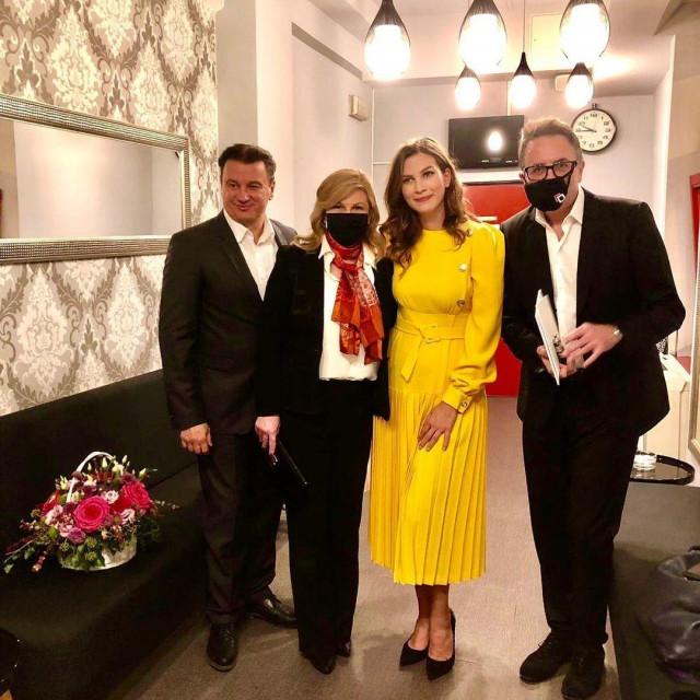 Boris Svrtan, Kolinda Grabar Kitarović, Ornela Vištica i Tarik Filipović u Kerempuhu