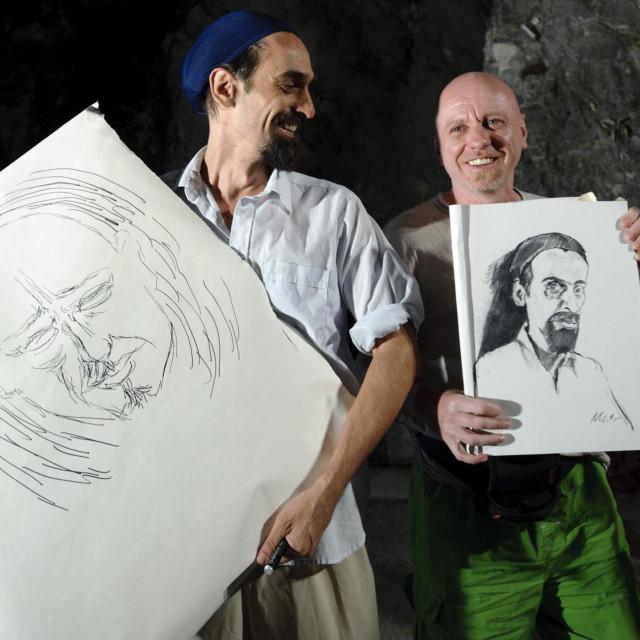 Crtački dvoboj izmedju Pere Grimanija i Marijana Crtalića<br /> <br /> <br />
