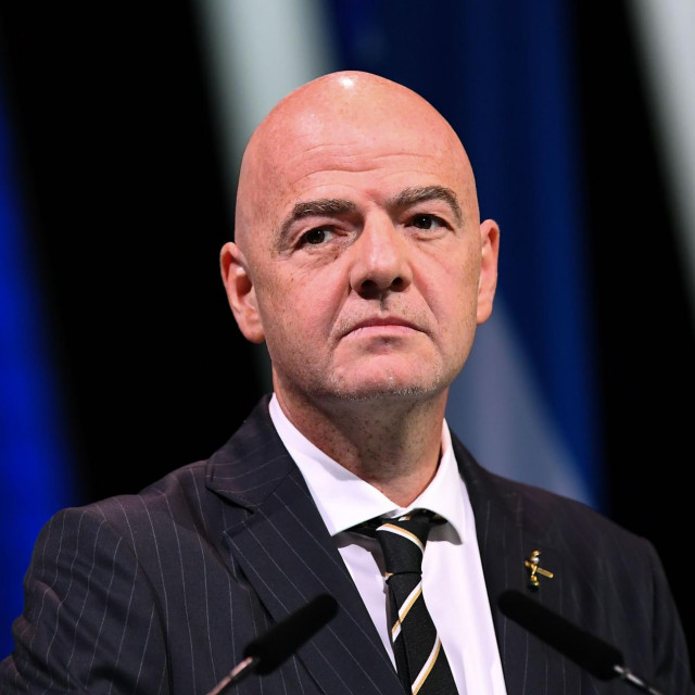 (FILES) This file photo taken on June 5, 2019 shows FIFA President Gianni Infantino looking on as he attends the 69th FIFA Congress at Paris Expo, Porte de Versailles in Paris. - FIFA's ethics committee on August 19, 2020, decided to close a case against president Gianni Infantino over possible ethics violations following a preliminary investigation by its investigatory chamber. (Photo by FRANCK FIFE/AFP)