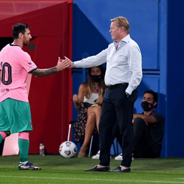 Leo Messi i Ronald Koeman