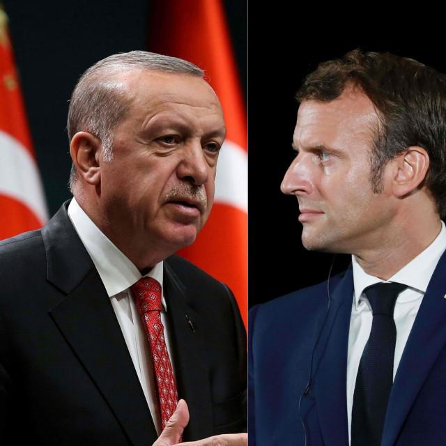 Recep Tayyip Erdogan i Emmanuel Macron