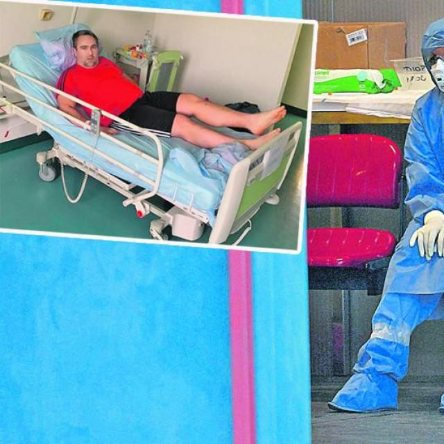 Medicinske sestre padaju s nogu, Dubravko Kovač (u okviru)