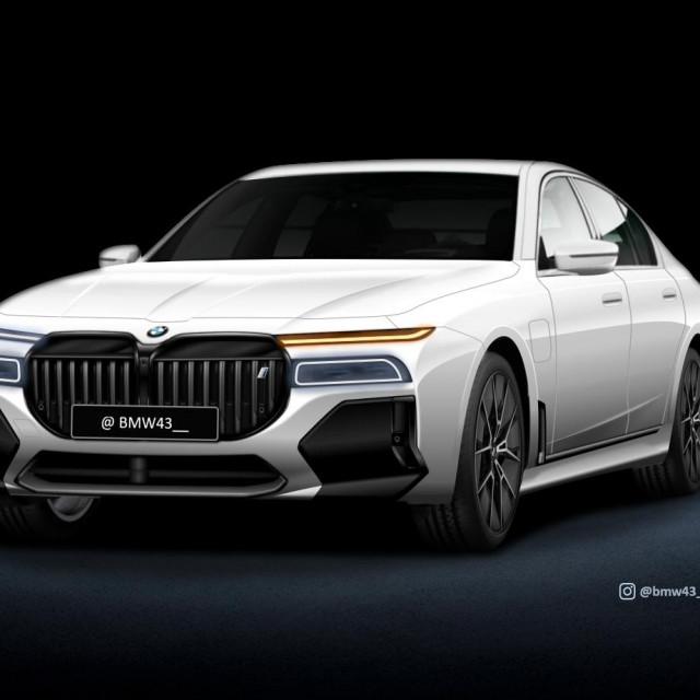 render BMW 7
