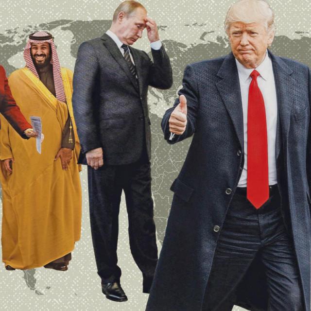 Angela Merkel, Muhammad bin Salman, Vladimir Putin, Donald Trump i Xi Jinping