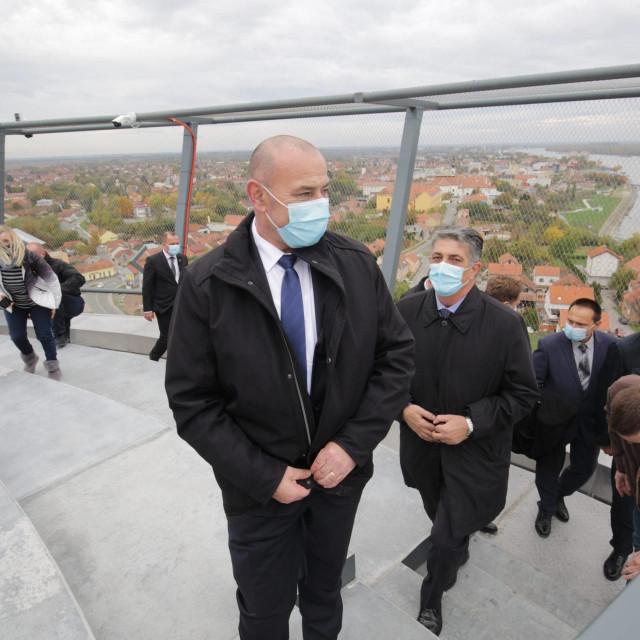 Ministar Tomo Medved na Vukovarskom vodotornju