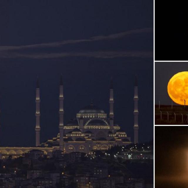 Prizori 'plavog mjeseca' diljem svijeta