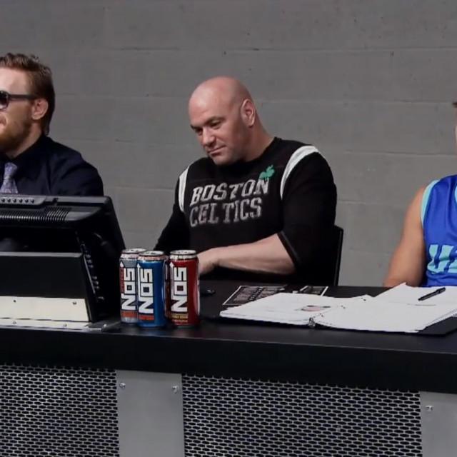 Conor McGregor, Dana White i Urijah Faber