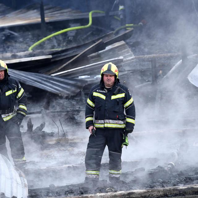 gašenje požara u Osnovnoj školi 'Mate Lovraka'