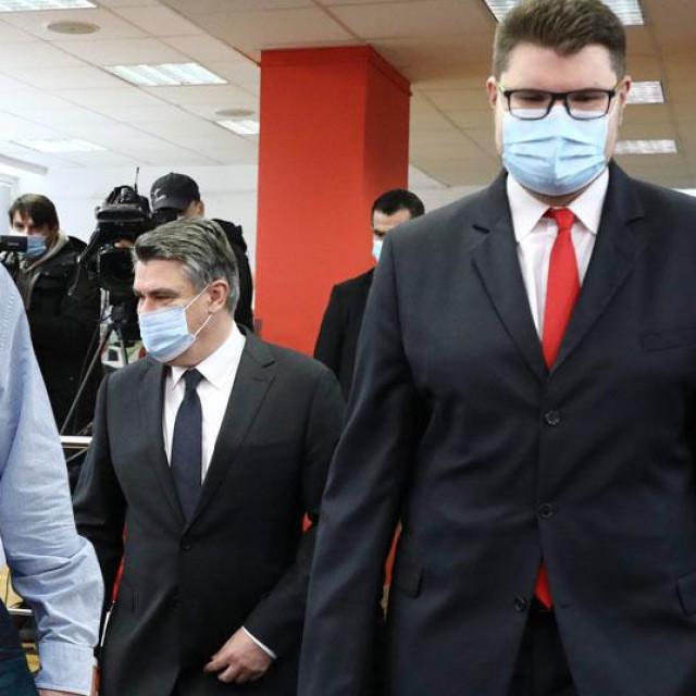 Ranko Ostojić (arhiva, lijevo), Zoran Milanović i Peđa Grbin (na glavnoj fotografiji)
