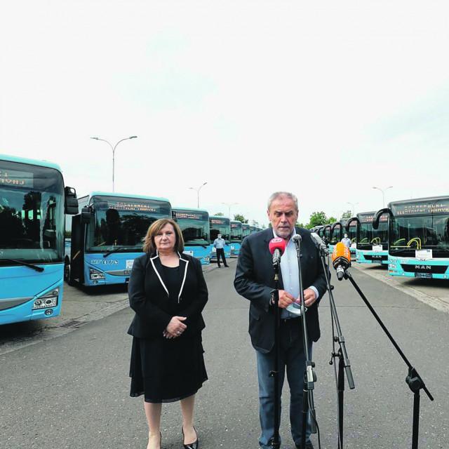 Ljuba Romčević Žgela i Milan Bandić