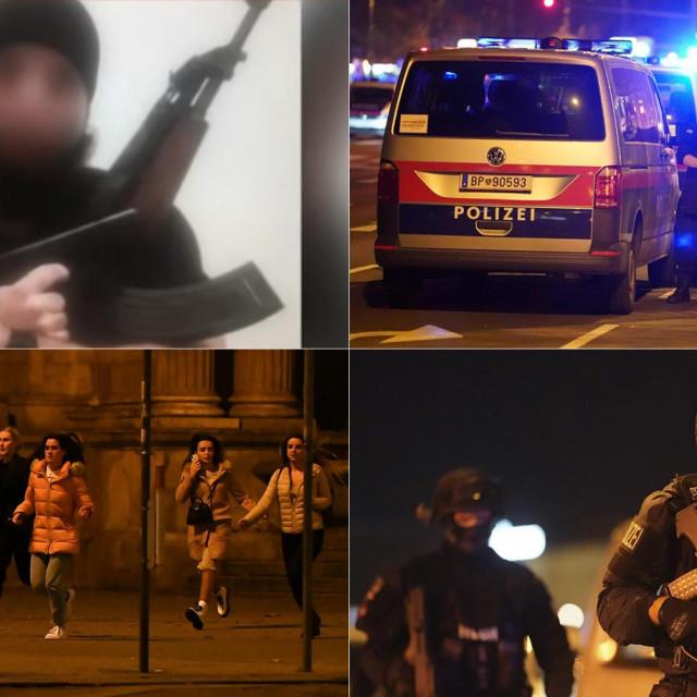 Osumnjičeni napadač (gore lijevo)