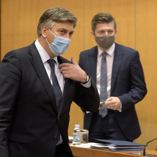 Andrej Plenković i Zdravko Marić