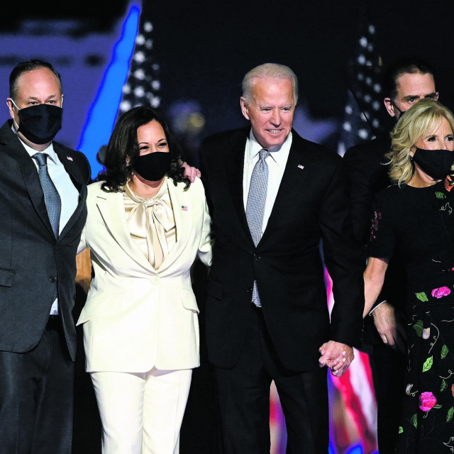 Joe i Jill Biden s Kamalom Harris i Dougom Emhoffom<br />