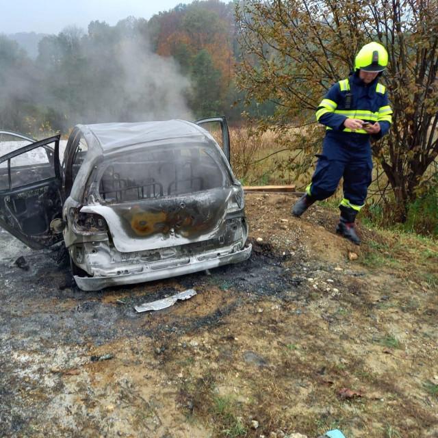 Potpuno izgorio automobil u Međimurju
