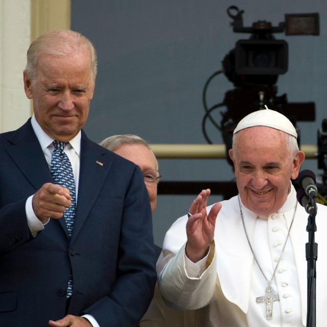 Joe Biden i papa Franjo