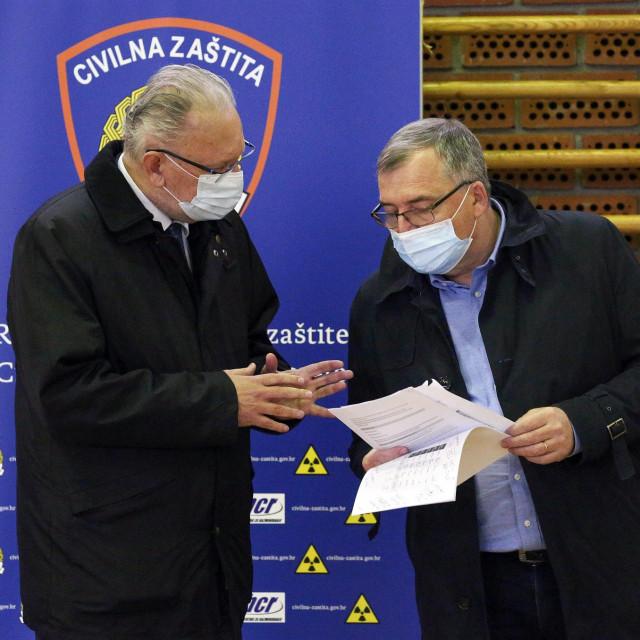 Davor Božinović i Krunoslav Capak.