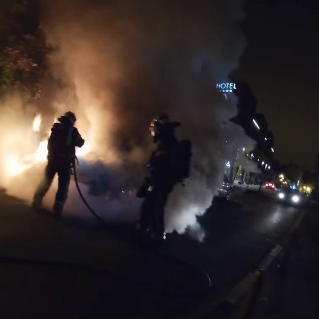 Intervencija vatrogasaca u Tkalčićevoj ulici u Zagrebu
