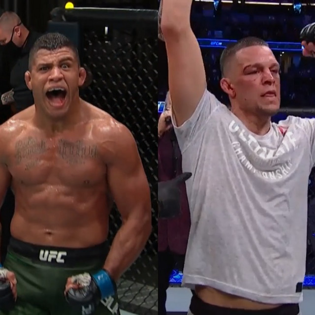 Gilbert Burns i Nate Diaz