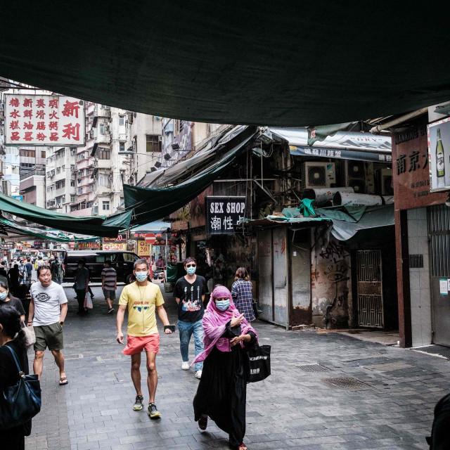Detalj s ulica Hong Konga