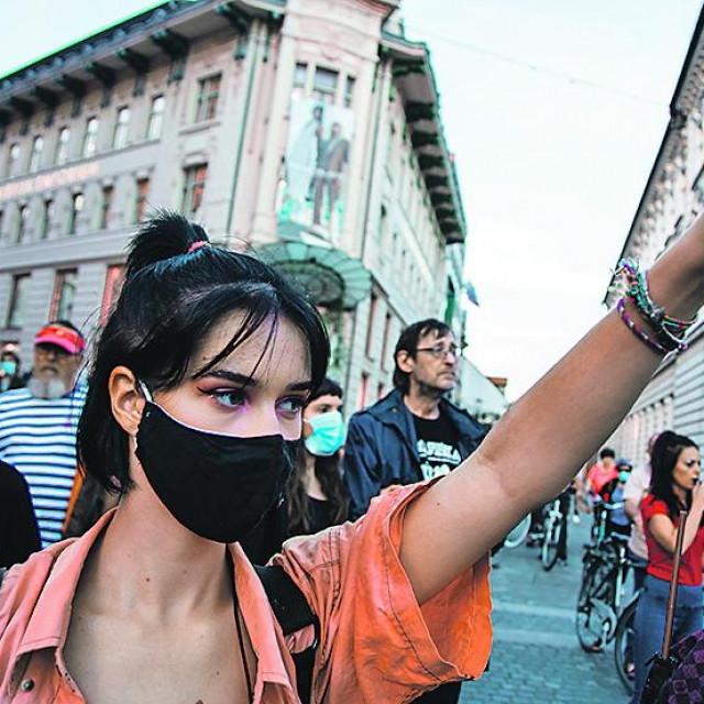 Ljubljana, prosvjedi