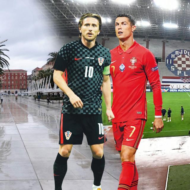 Ronaldo i Modrić ilustracija