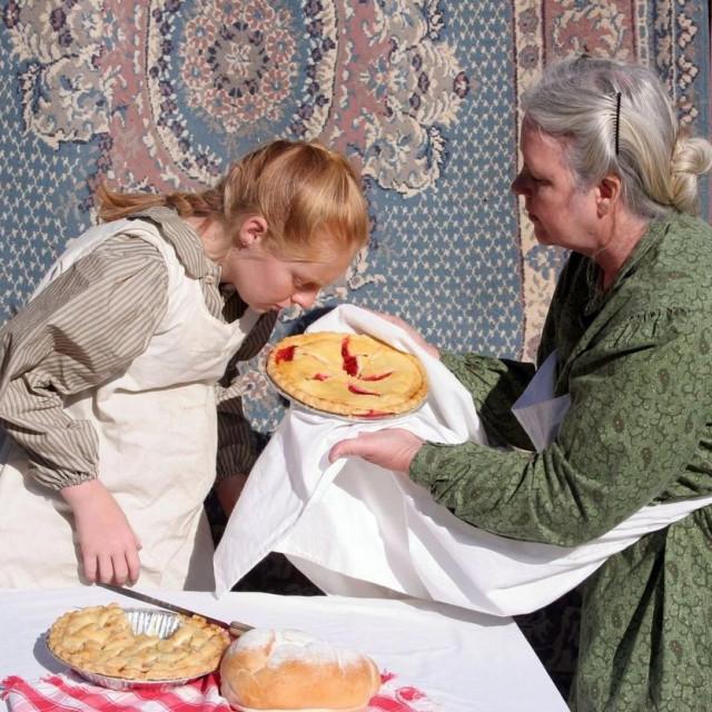 Miris domaće pite od trešanja; ilustracija