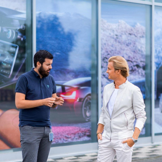 Mate Rimac i Nico Rosberg